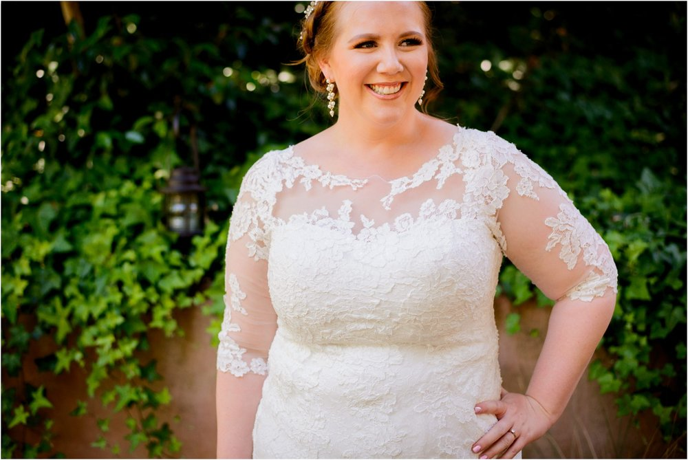 Bridal portrait in Redwood Forest California wedding