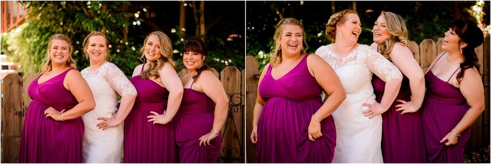 dark Pink Bridesmaid dresses