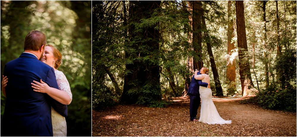 redwood forest wedding First Look