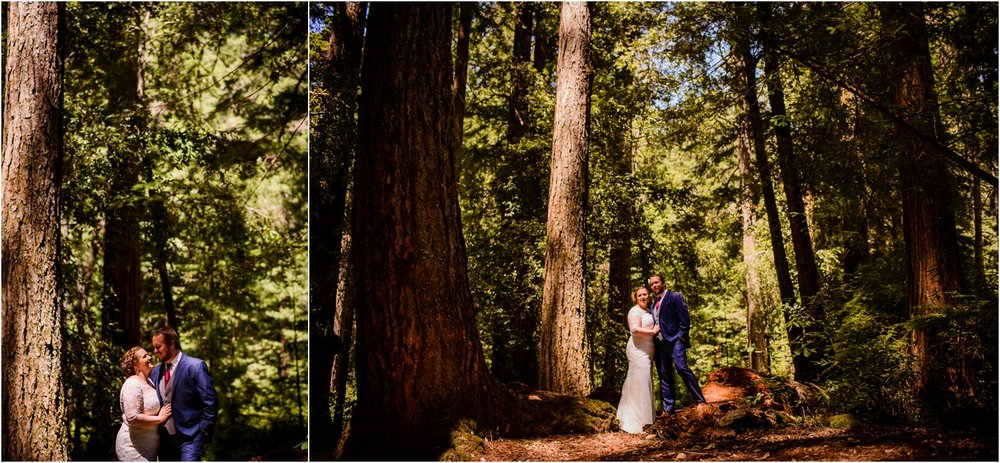 wedding portraits in Big Basin Redwoods