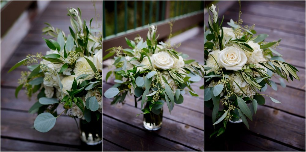white and Aspen leaf wedding bouquet