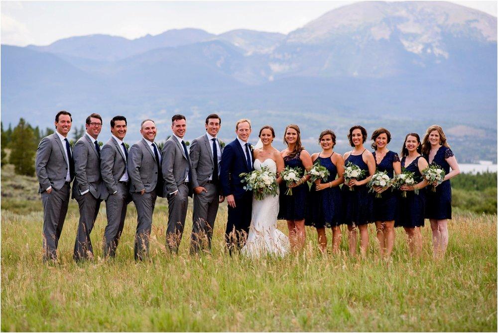Lake Dillon Wedding Party photos