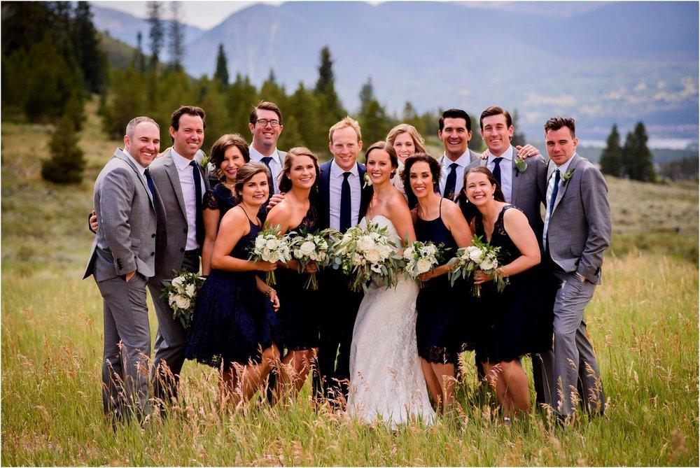wedding party photos near Breckenridge Colorado