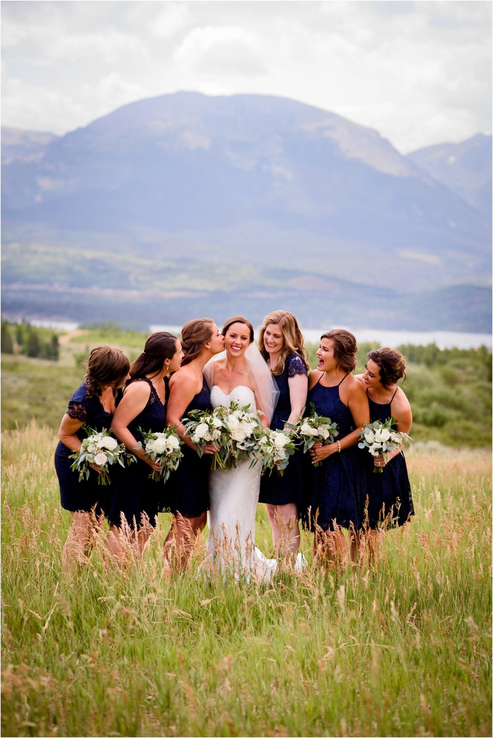 Bridesmaid photo near Keystone colorado