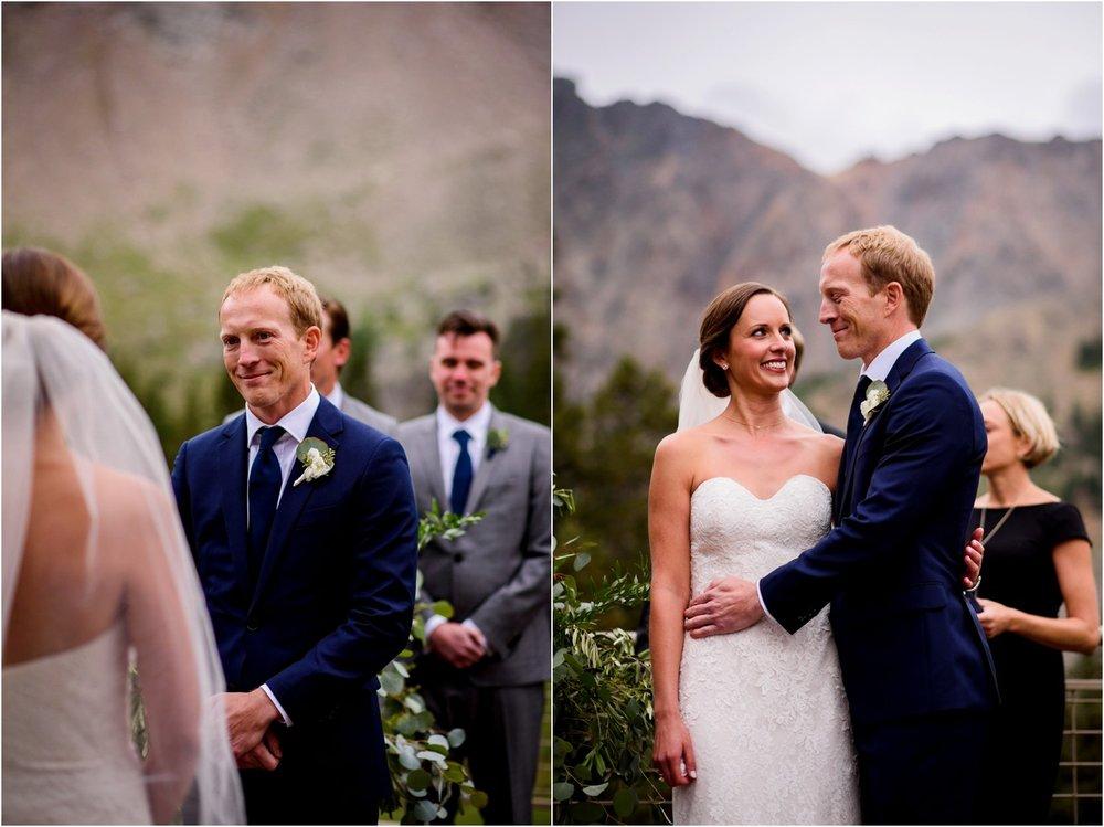 Colorado outdoor mountain wedding ceremony