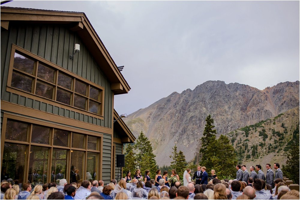 Black Mountain Lodge mountain top Wedding Ceremony