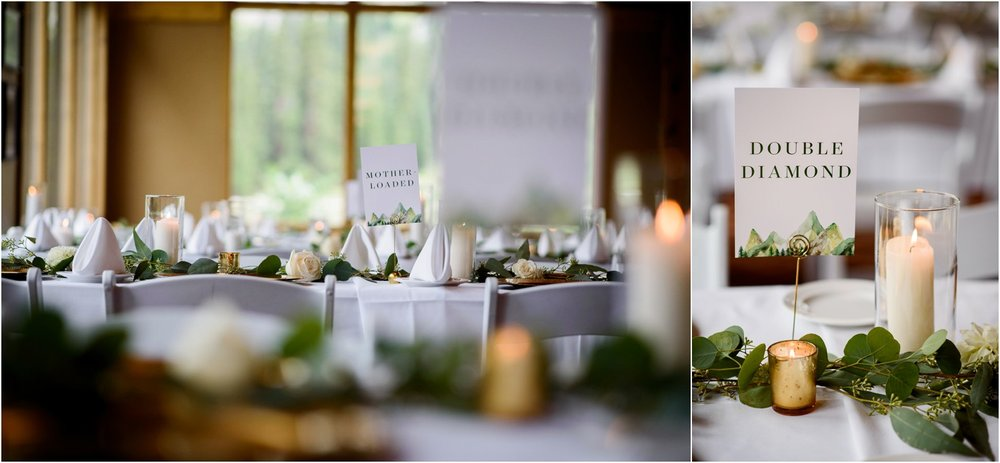 wedding table decor simple mountain wedding