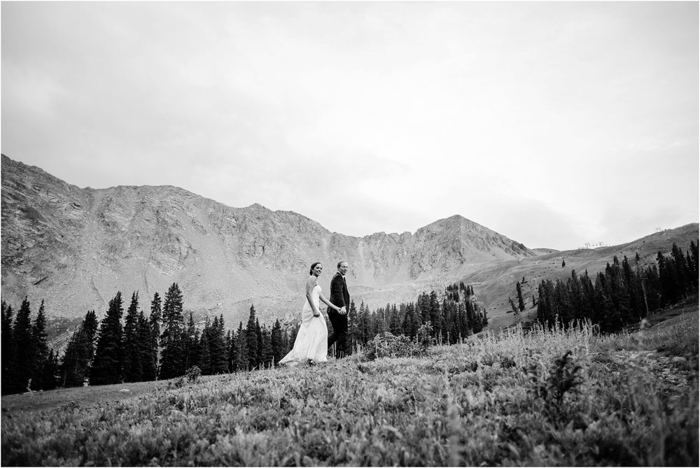 Black and White mountain wedding photography