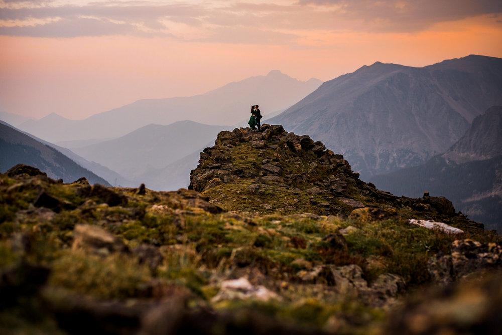 Estes Park Sunset mountain Engagement photo