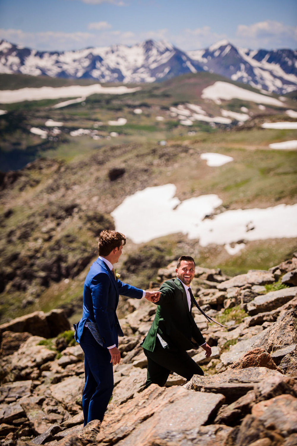 Copy of Gay wedding couple in Rocky Mountain national Park