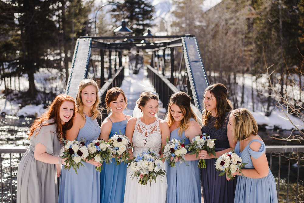 Copy of Colorado winter Bridal Party photo