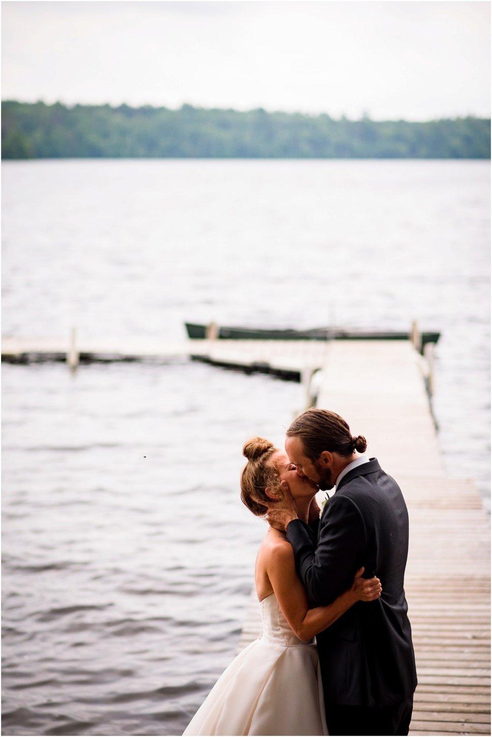 1st kiss on lake dock