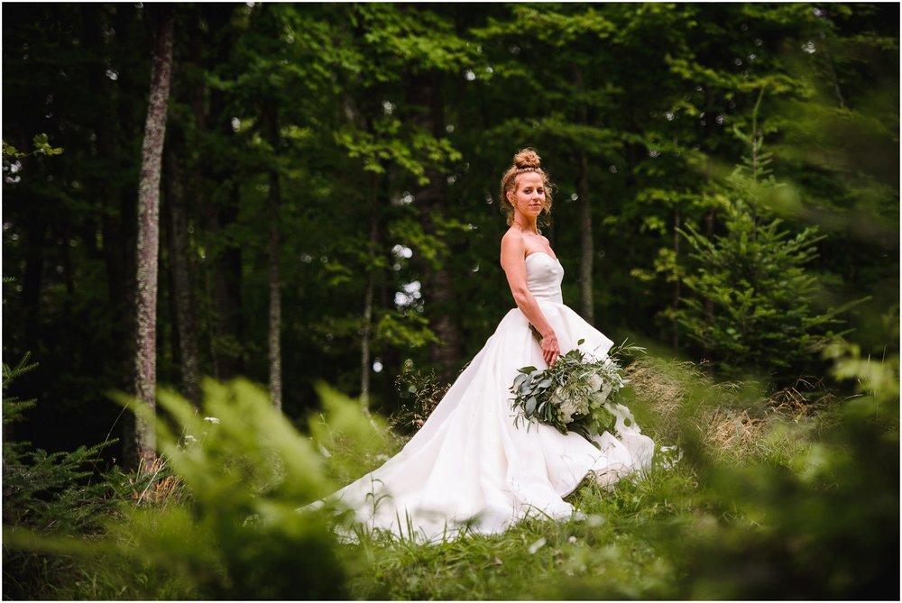 Wisconsin Bride in Woods