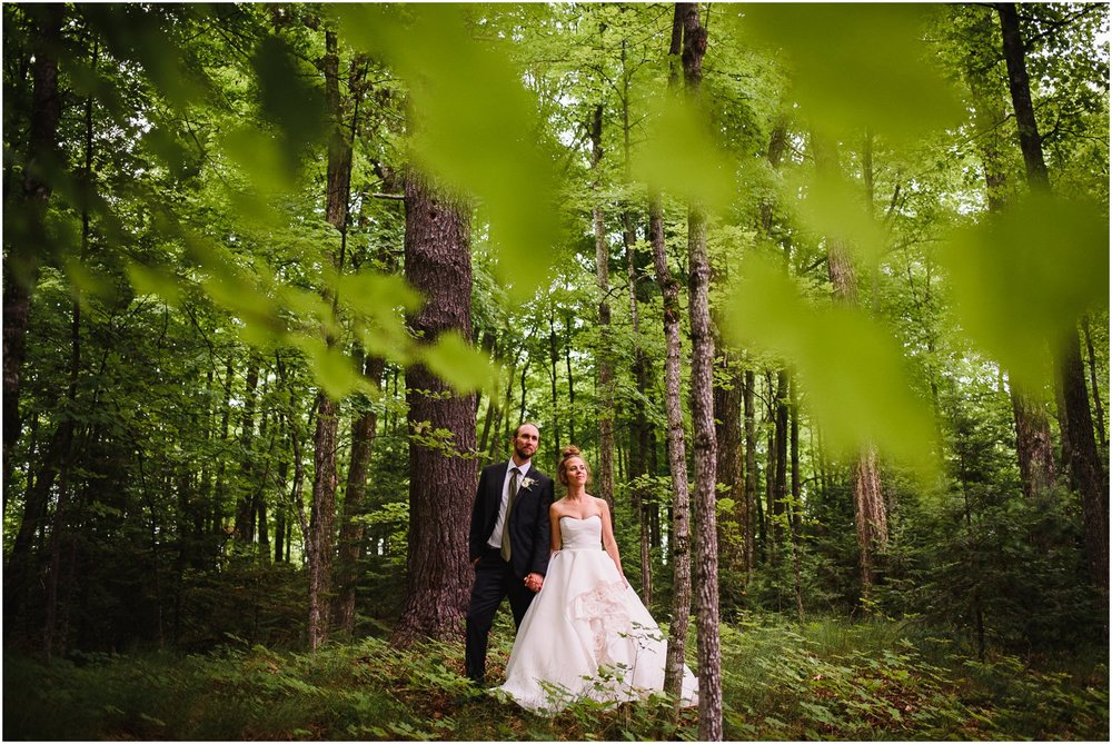 Bride and Groom portrait in deep Mountains