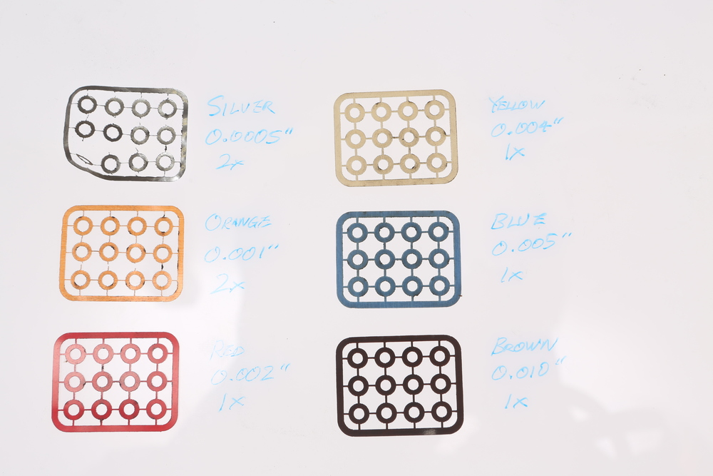 Shim sets - already on their way to our Amazon web store.  ZT-KIT-00309(01)