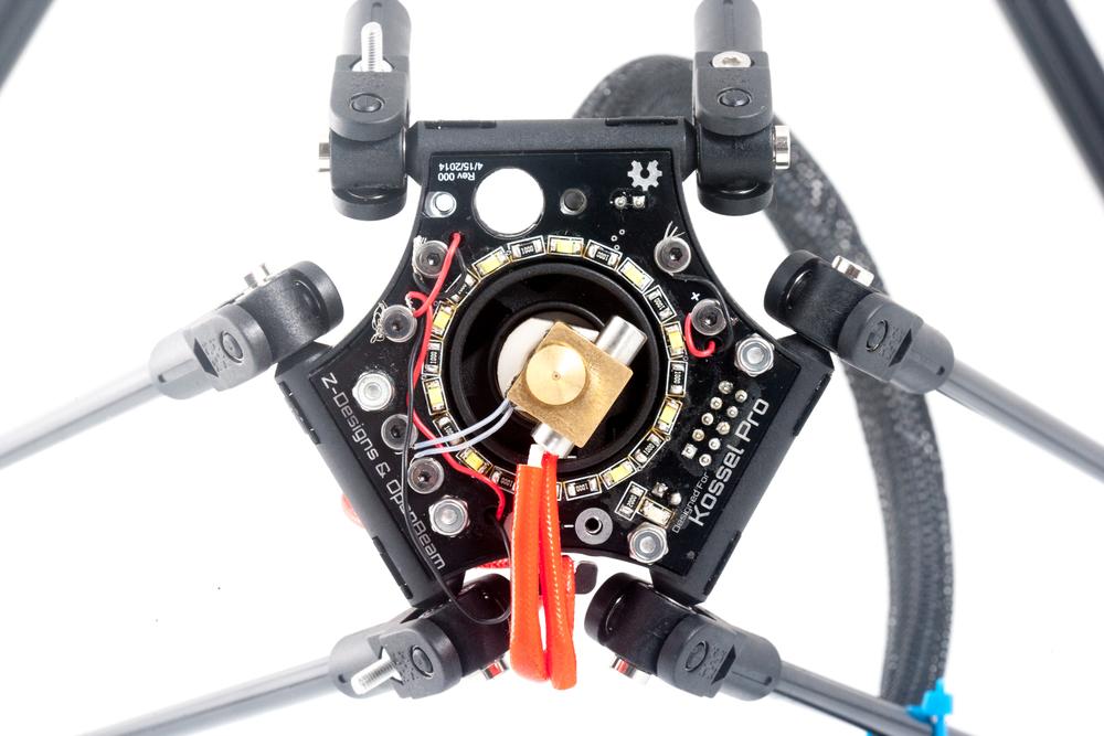 Assembled Kossel Pro end effector. Photo courtesy Chris Gilroy, Solarbotics Ltd.