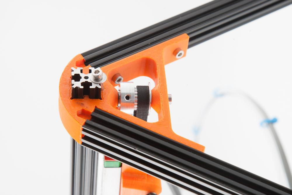 Kossel Reprap's full ball bearing pulley. Photo courtesy Chris Gilroy, Solarbotics Ltd.