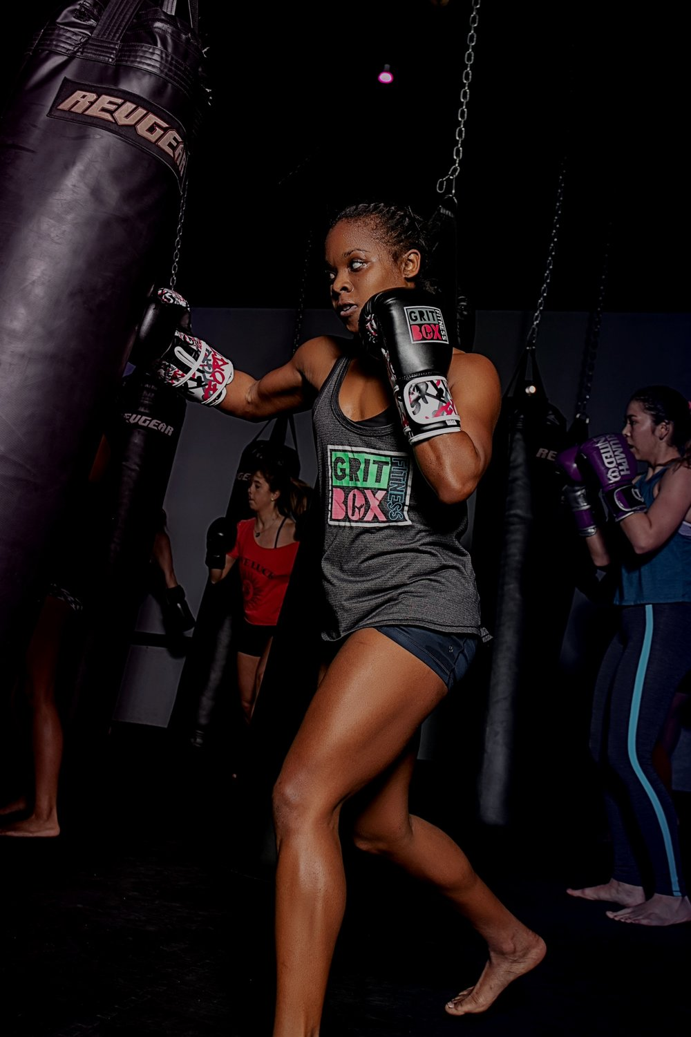Kickboxing - Our high-intensity kickboxing classes are fun, results-focused and energizing workouts that will keep you sweating to your favorite beats with motivating coaches. These classes combine high-intensity intervals of kickboxing combinations with bodyweight strength training to deliver the sculpting results you've been looking for.
