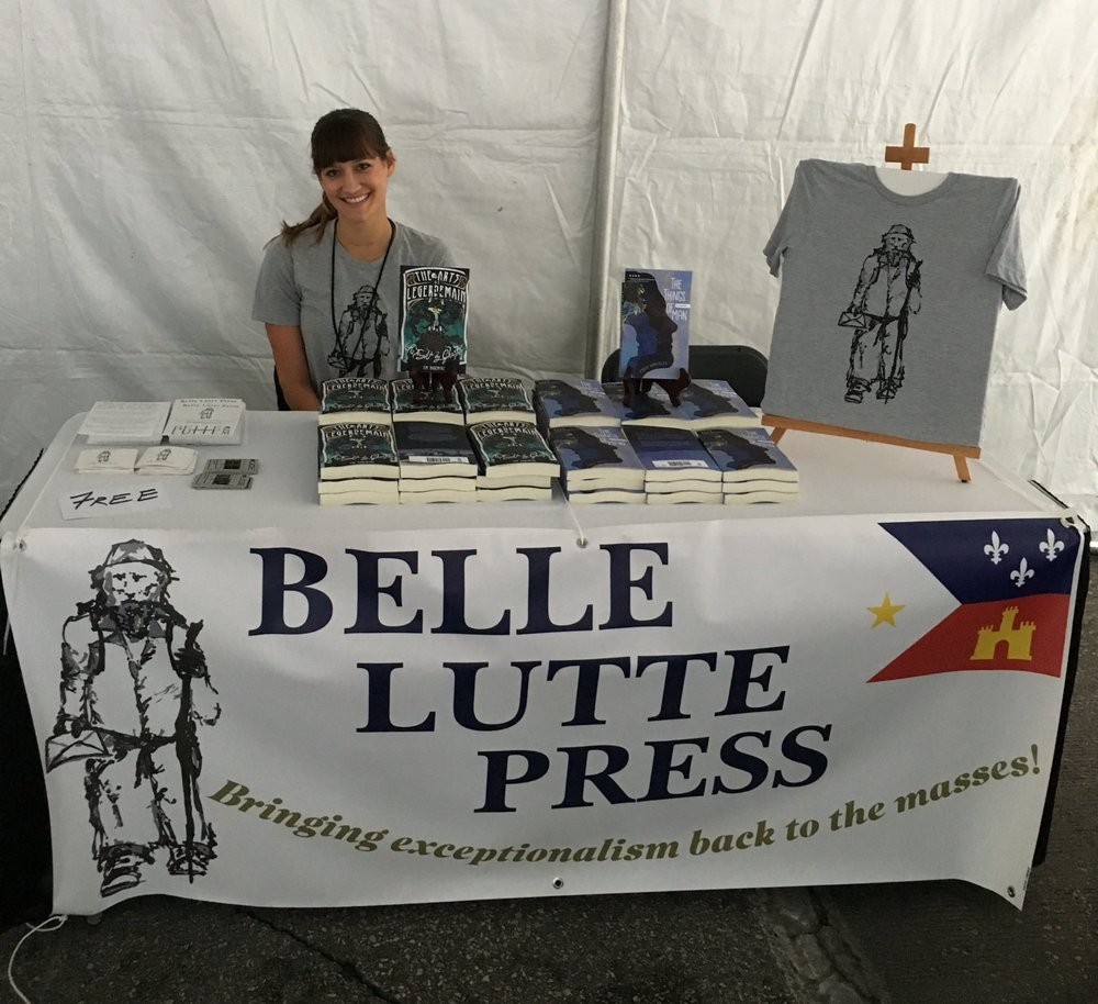 Frances Person, native of Lafayette, at the 2016 Texas Book Fest.