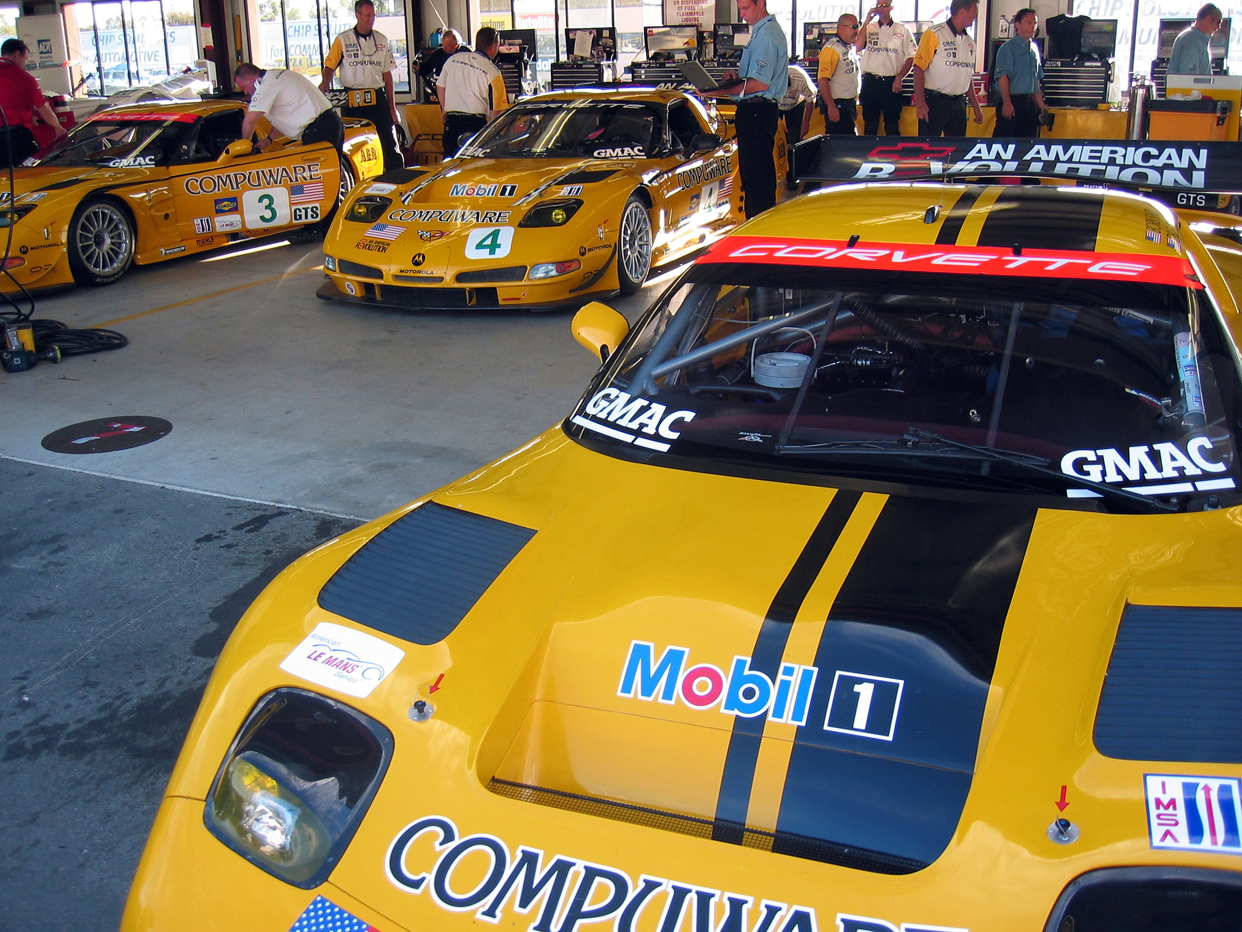Corvette C5R Cars In Garage Cooked