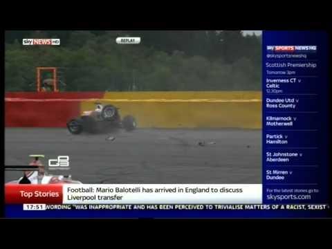 GP3 Belgium (Spa) 2014 - Konstantin Tereshchenko Horror Crash