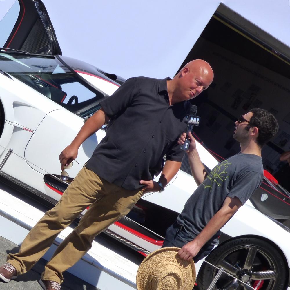 Christian von Koenigsegg doing an explainer for the press.