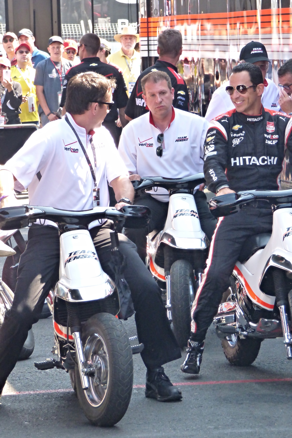 IndyCar biker gang getting ready to roll!