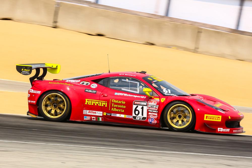 No. 61 R. Ferri Motorsports Ferrari 458 GT3 Italia driven by Olivier Beretta.