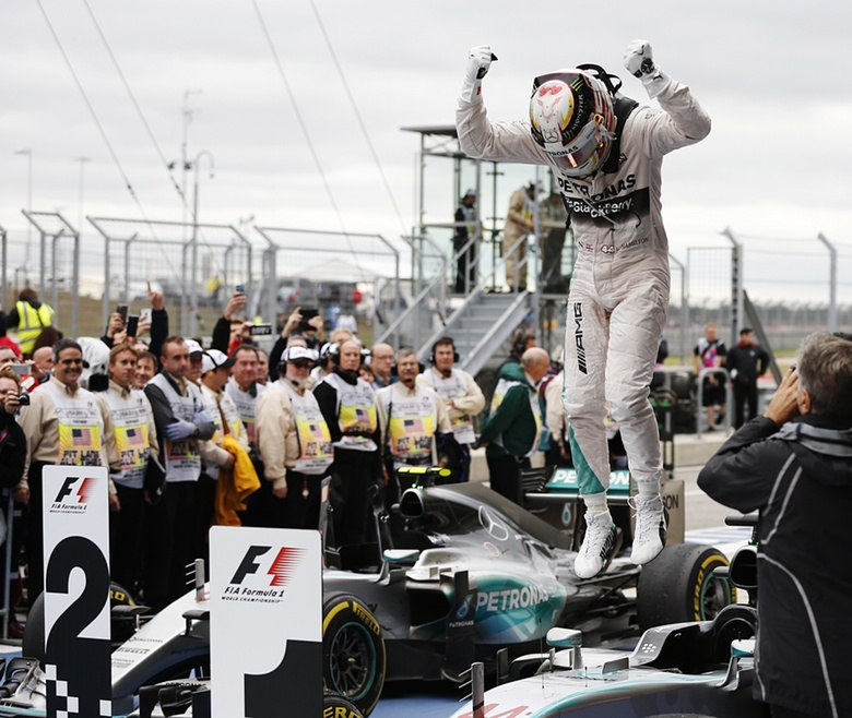 Lewis Hamilton, three times World Champion. Photograph: John Locher/AP