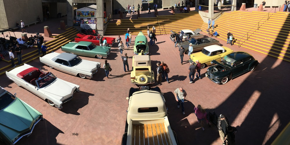 This is only a tiny fraction of the cars on display this year.