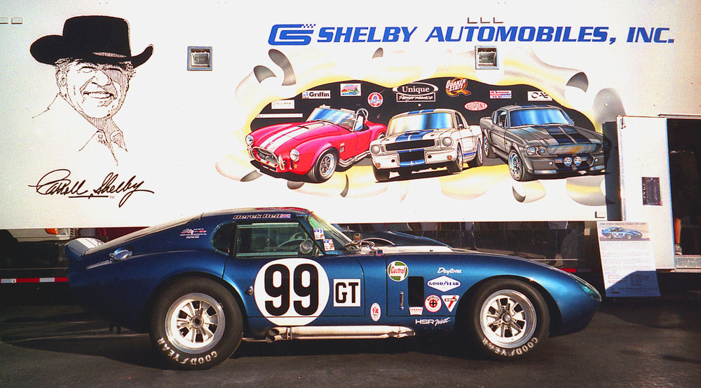 Cooked Shelby Daytona Coupe In Front of Trailer 1.JPG