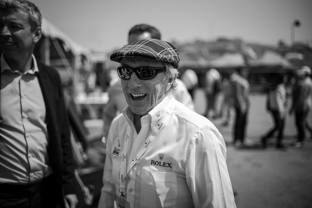 Three-time Formula 1 Champion Jackie Stewart at the Reunion. Photo: David Barnes, 2016