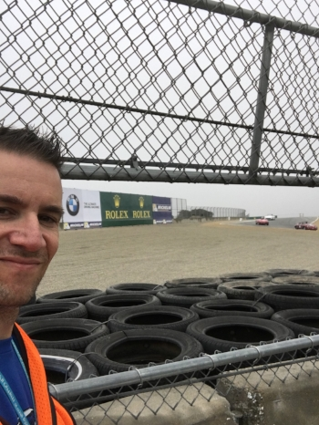 In my happy place next to the track.