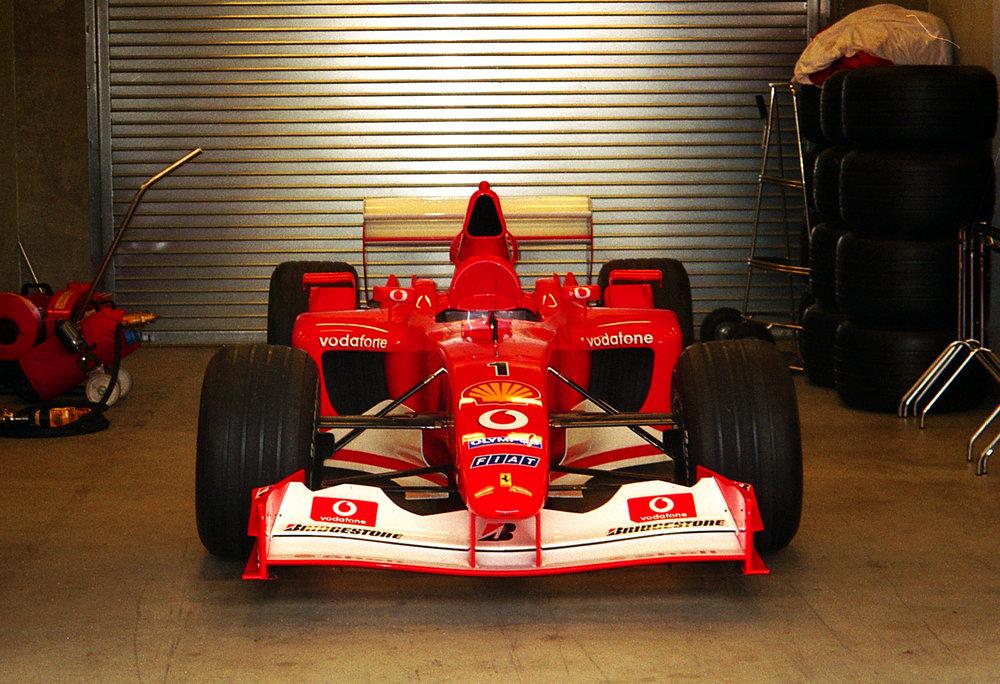 Cooked Ferrari F2003ga in Garage.JPG