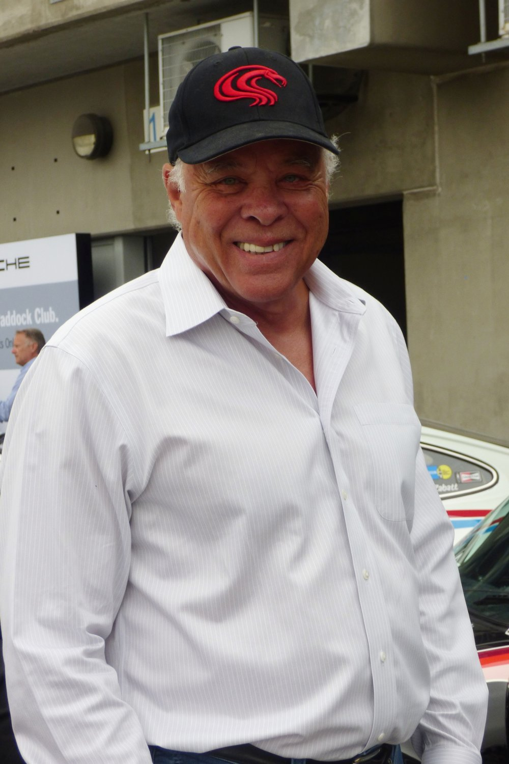 "Drag Racing Royalty: Don ""The Snake"" Prudhomme admires Porsche's offerings"