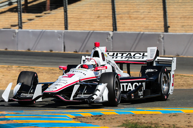Helio Castroneves at the '16 Indy GoPro Grand Prix of Sonoma