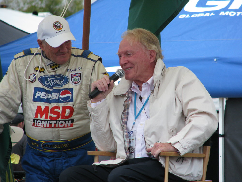 Dan (w/Murray Smith) at the 2010 Monterey Historics at a lunchtime Q&A session.