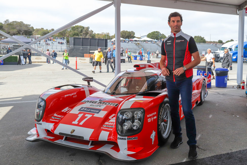 Mark Webber poses in Front of his LeMans 919.