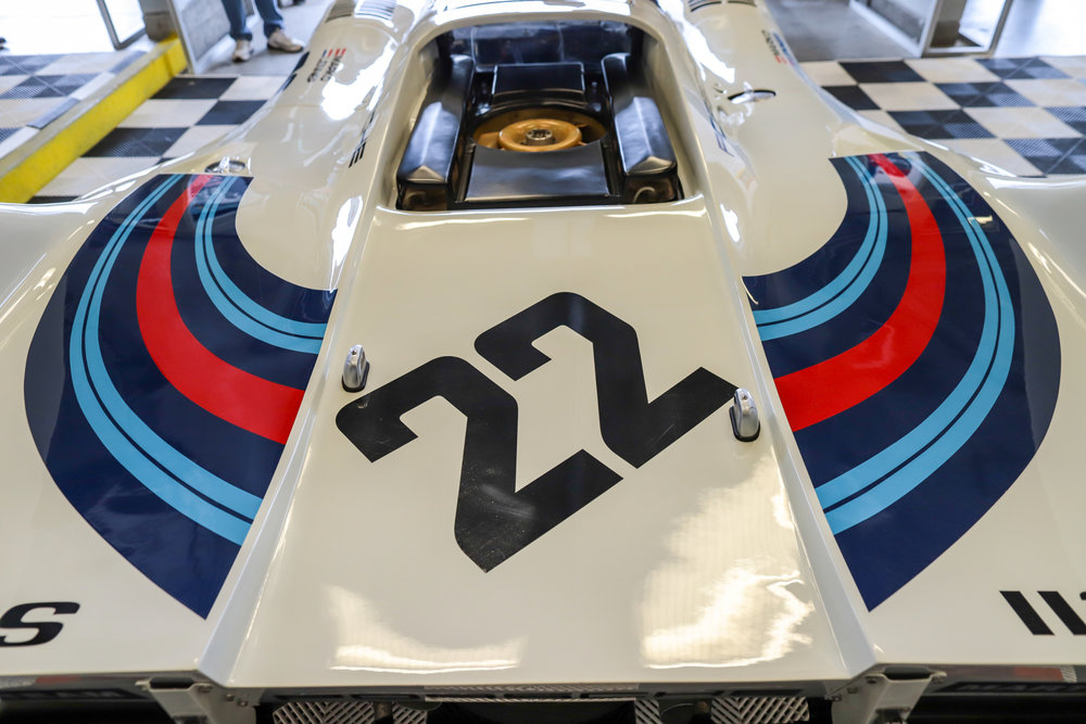 Rear deck of the Porsche 917-053, the 1971 Le Mans winner