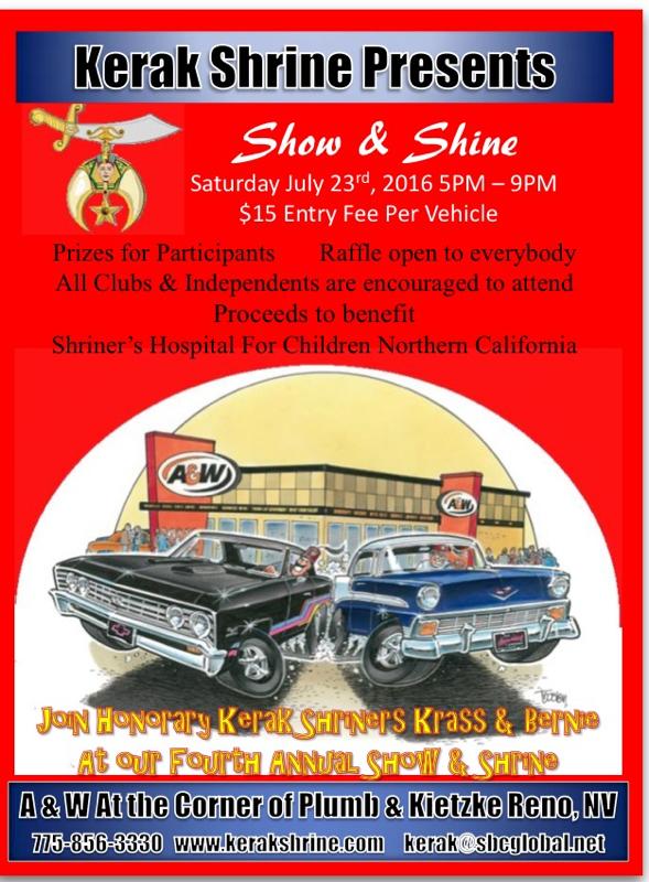 Classic Car Show Shine Benefit For Shriners Hospital For Children - Reno car show