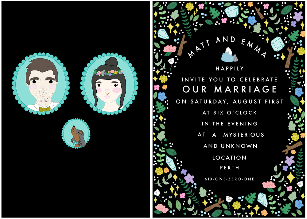 Personal Wedding Invitations.
