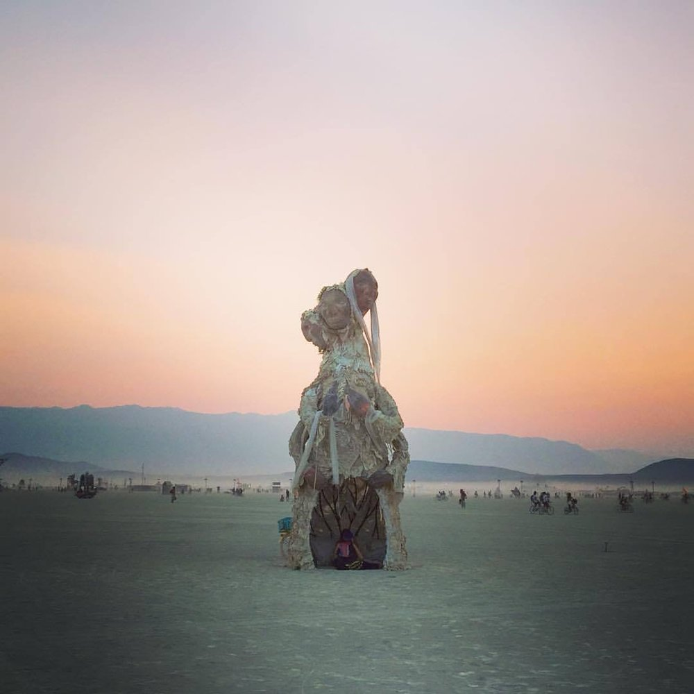 One of the many, many compelling pieces of art at Burning Man this year.