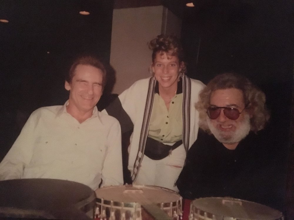 Del McCoury, Allison McCoury, & Jerry Garcia Photo by Ronnie McCoury Published w/ permission from Allison McCoury