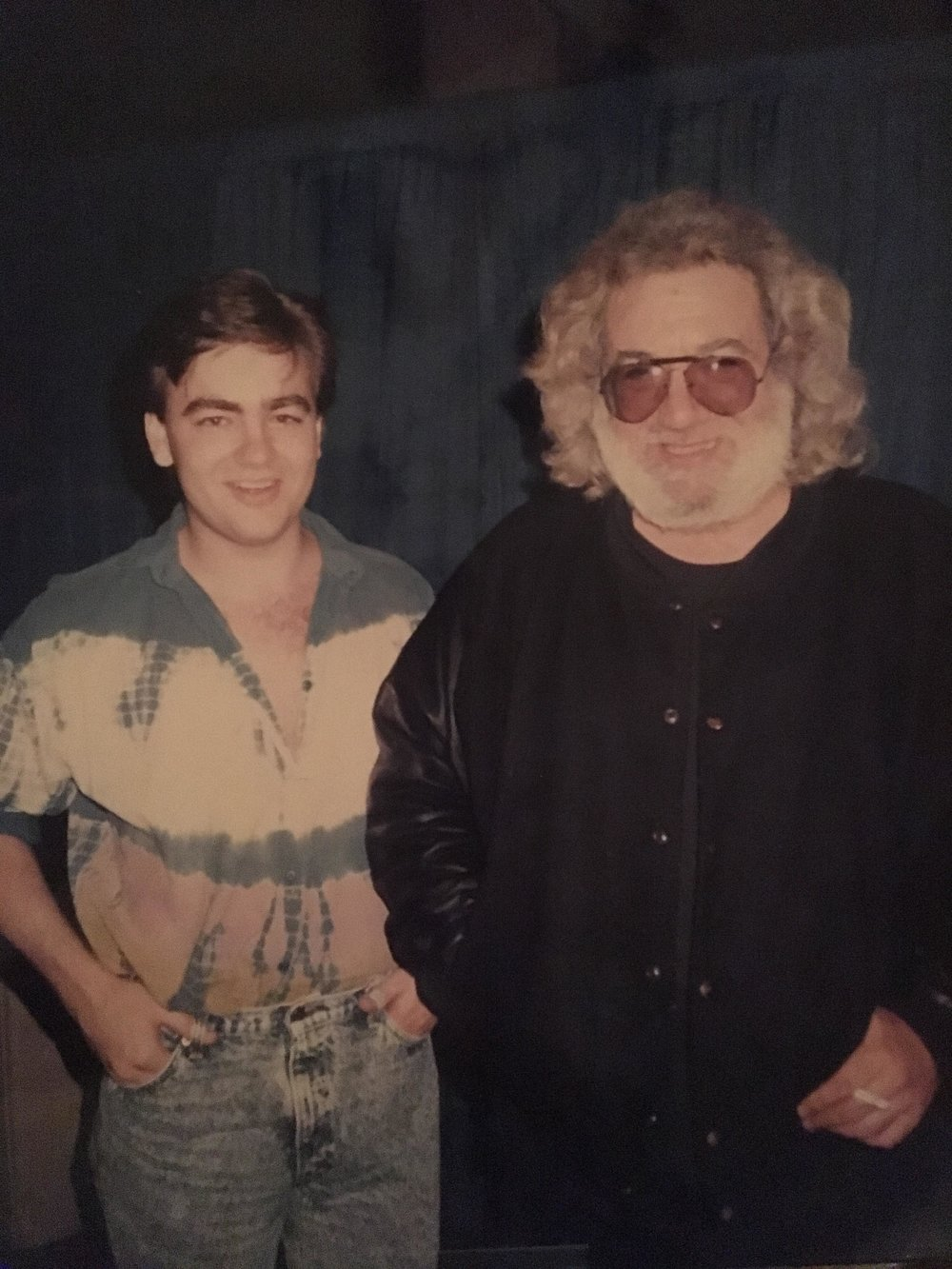 Ronnie McCoury & Jerry Garcia Photo by Allison McCoury Published w/ permission from Allison McCoury
