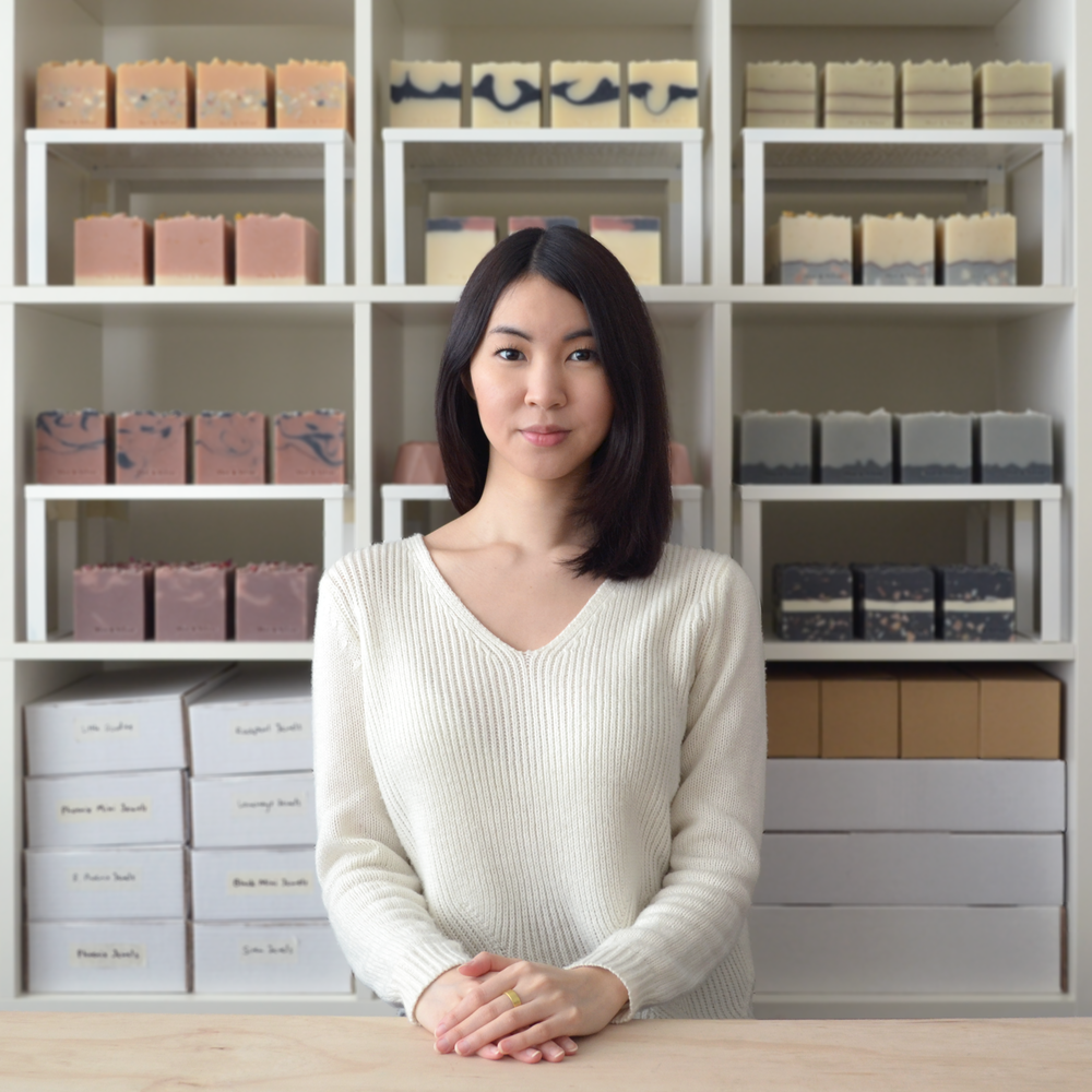 Mei - Creator, formulator, soap maker, mousse whipper, scent blender, photo taker, graphic designer, product packer, book keeper and general cheerleader at V&V. Mei has been making soap and body products since her early teens, a passion that lasted over a decade before Vice & Velvet was born.
