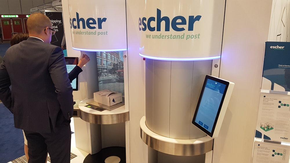 A self-serve retail/parcel installation from Escher