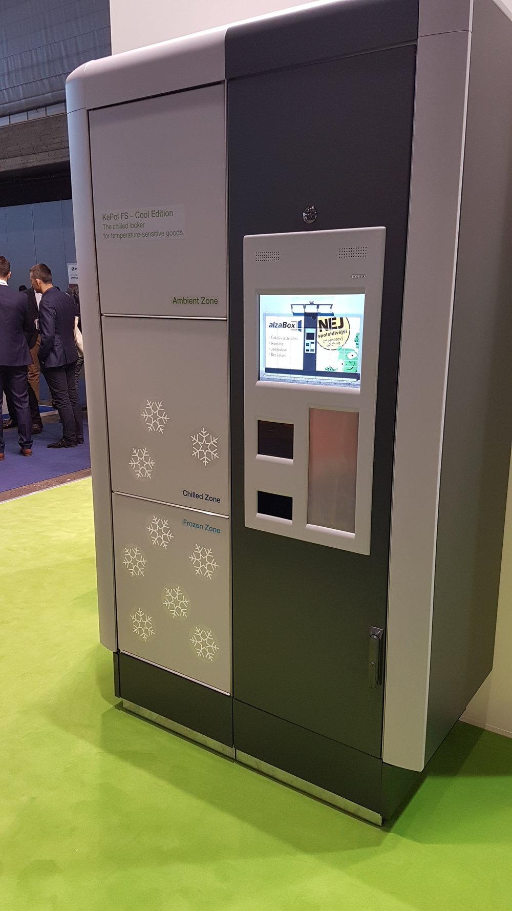 The new refrigerated parcel locker from Keba