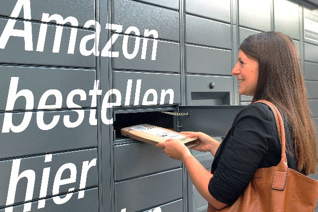 Amazon parcel locker in Germany