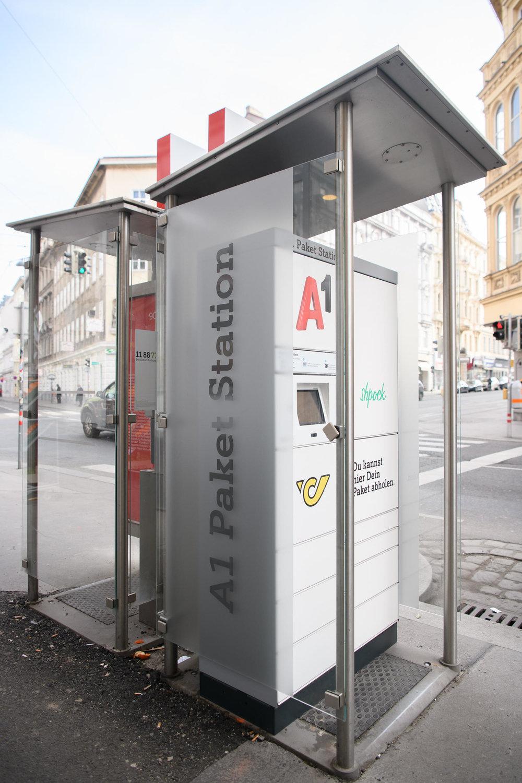 An A1 Paket Station in Vienna