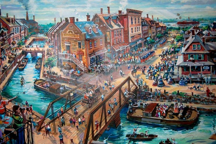 A Civil War-era village that would have served as the hub of Disney's America. Image (c) Disney